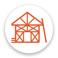 Home Construction icon in orange